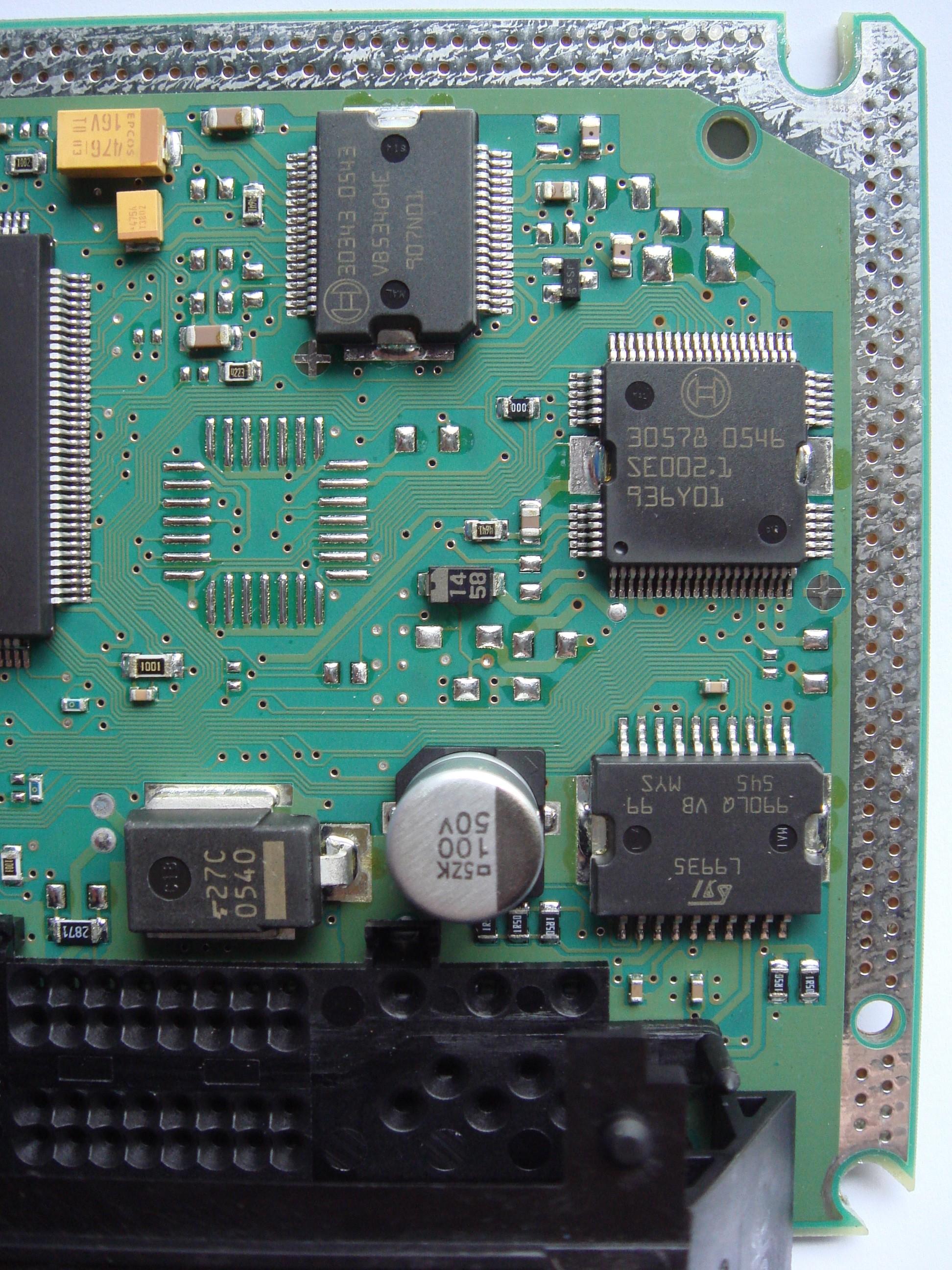 схема электронного блока управления на м73