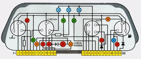 Схема панели приборов 88311267