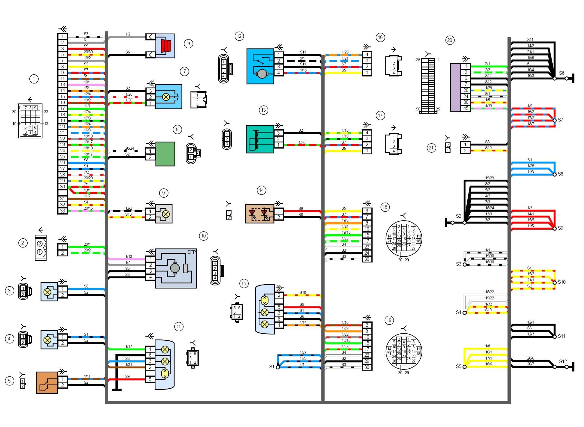 Маркировка проводов в принципиальной схеме